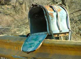 old outdated mailbox
